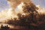 Jan van Goyen River Scene oil painting picture wholesale
